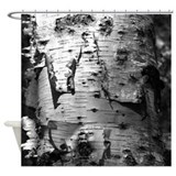 Birch Tree Bark Shower Curtain