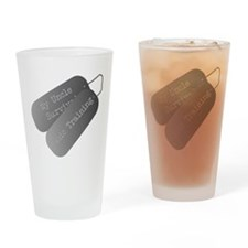 My Uncle survived basic training Drinking Glass