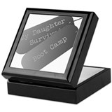 My daughter survived boot camp Keepsake Box
