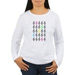 Colorful Treble Clefs Women's Long Sleeve T-Shirt
