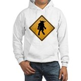Minotaur Warning Sign Hoodie
