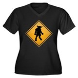 Minotaur Warning Sign Women's Plus Size V-Neck Dar