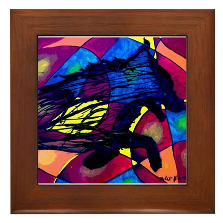 Wolf Spirit Framed Tile