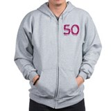 Flamingo Fifty Festive Fun for the Big 5-0! Zip Hoodie