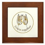 50 Years Together Framed Tile