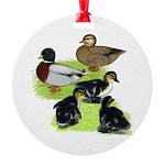 Gray Call Family Round Ornament