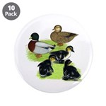 """Gray Call Family 3.5"""" Button (10 pack)"""