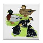 Gray Call Family Tile Coaster