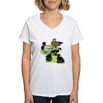 Gray Call Family Women's V-Neck T-Shirt