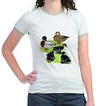 Gray Call Family Jr. Ringer T-Shirt