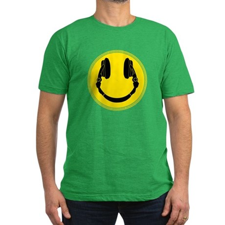 DJ Smiley Headphone Platter Men's Fitted T-Shirt (