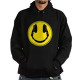 DJ Smiley Headphone Platter Hoodie