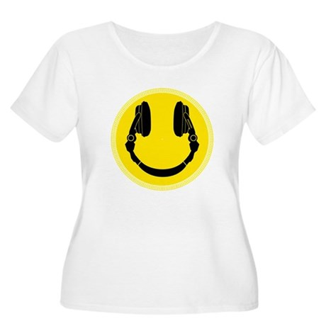 DJ Smiley Headphone Platter Women's Plus Size Scoo