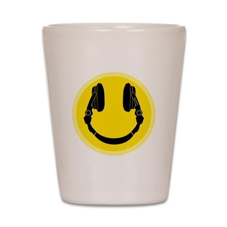 DJ Smiley Headphone Platter Shot Glass