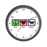 Peace Love Obama Wall Clock