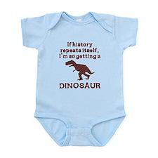 If history repeats itself dinosaur Onesie