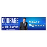 Courage: Alan Grayson Car Sticker