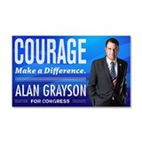 Courage: Alan Grayson Car Magnet 20 x 12