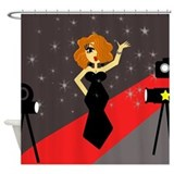 Cute Red Carpet Diva Shower Curtain