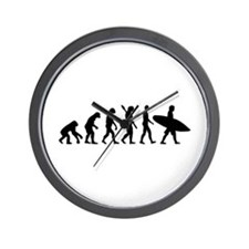 Evolution surfing Wall Clock
