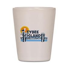 Tybee Island GA - Pier Design. Shot Glass