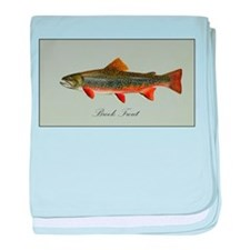 Brook Trout baby blanket