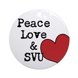 Peace Love & SVU Ornament (Round)