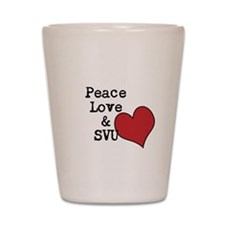Peace Love & SVU Shot Glass