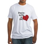 Peace Love & SVU Fitted T-Shirt