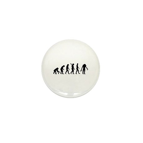 Evolution scary Zombie Mini Button