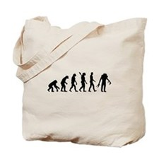 Evolution scary Zombie Tote Bag