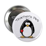 Teachers Pet Penguin Button
