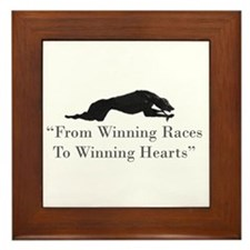 Winning Hearts Framed Tile
