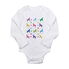 Cute Labrador retrievers Long Sleeve Infant Bodysuit