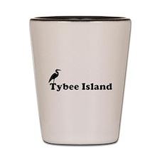 Tybee Island GA - Beach Design. Shot Glass