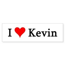 I Love Kevin Bumper Bumper Sticker