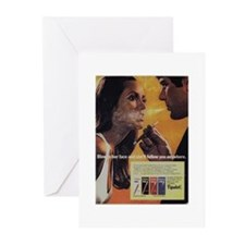 Funny Women smoking cigars Greeting Cards (Pk of 10)