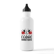 I Love Baritone Ladybug Sports Water Bottle