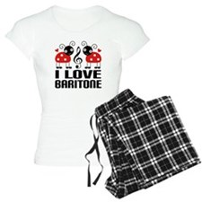 I Love Baritone Ladybug pajamas