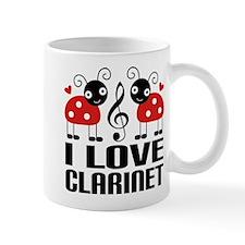 I Love Clarinet Ladybug Mug