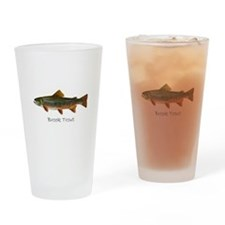 Painting of Brook Trout Drinking Glass