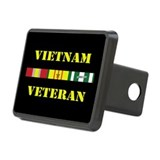 Vietnam Veteran 1 Star Rectangular Hitch Cover