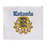 Estonia Coat of arms Throw Blanket