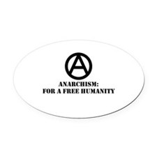 For A Free Humanity Oval Car Magnet