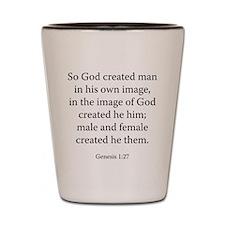 Genesis 1:27 Shot Glass