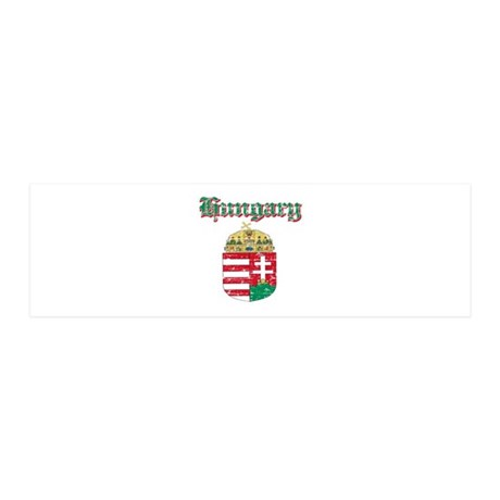 Hungary Coat of arms 20x6 Wall Decal