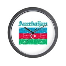 Azerbaijan Flag Designs Wall Clock