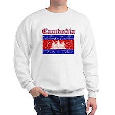 Cambodia Flag Designs Sweatshirt