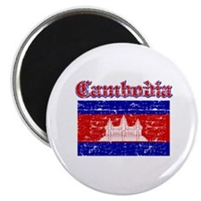 "Cambodia Flag Designs 2.25"" Magnet (10 pack)"