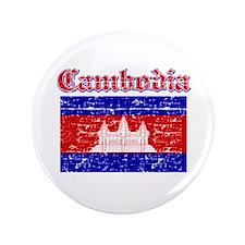 "Cambodia Flag Designs 3.5"" Button (100 pack)"